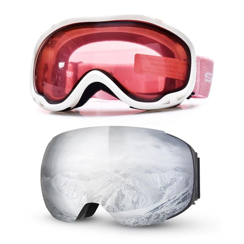 Snowmobile Ski Goggles Mask Double Layers Skiing Snow Glasses UV400 Anti-fog Men Women Snowboard Goggles Snow Eyewear Protection