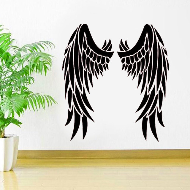 angel wings vinyl sticker inspirational car window decal heaven