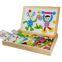 Multifunctional Educational Animal Wooden Magnetic Puzzle Toys For Children Kids Jigsaw Baby S Drawing Easel Board