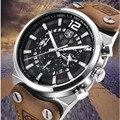 2019 BENYAR бренд многофункциональный хронограф мужские часы Военные кожа Водонепроницаемый Кварцевые черные спортивные часы Relogio