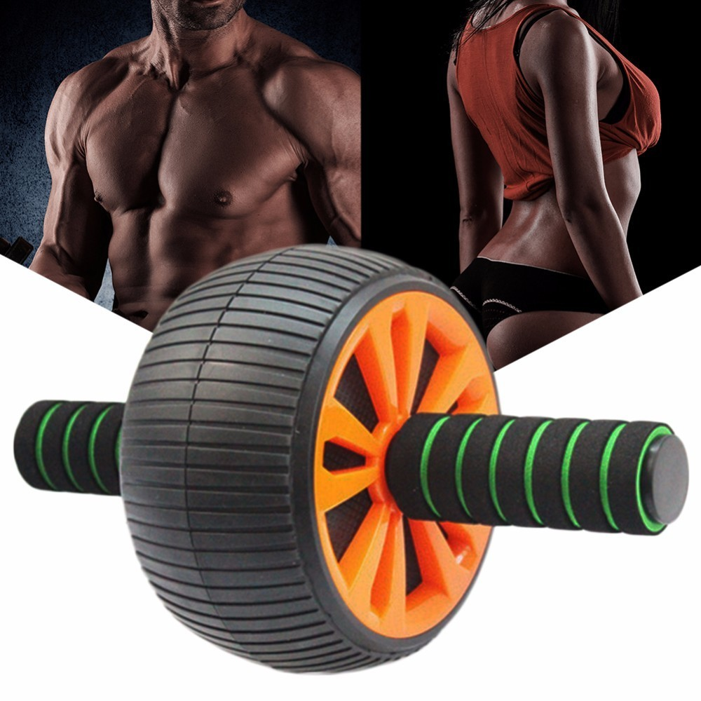 New Keep Fit Wheels Wide Ab Wheel Roller Anti-Slip Handles Perfect Abdominal Waist Gym Workout for Exercise Fitness Equipment
