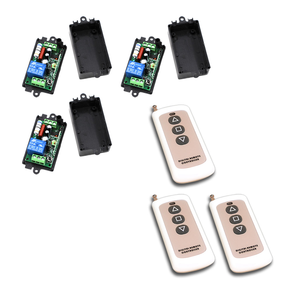 AC 110V/220V Remote Control Switch Wireless Remote Switch 1CH 10A Relay Receiver Teleswitch 3 button Transmitter 315Mhz / 433Mhz dc24v remote control switch system1receiver