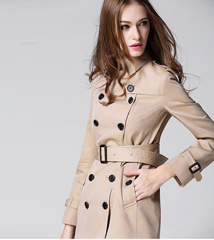 Coupe coat Femmes Marque Finition Design Couche De Breasted automne Mince Beige Printemps Mode Manteau vent Qualité Chic Supérieure Double Trench Ol H6Y5nzwq