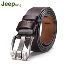 купить JEEPKING Genuine Cow Leather Men Belts Luxury Brand Strap Male Leather Belt Fashion Pin Buckle Belt Free Shipping 2172 по цене 825.73 рублей