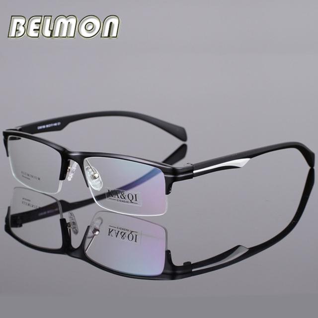 2016 AL-MG Óculos Armação de Óculos Homens Computador Vidros do Olho Óptico óculos Para O Sexo Masculino Transparente Limpar Lente Armacao oculos de RS281