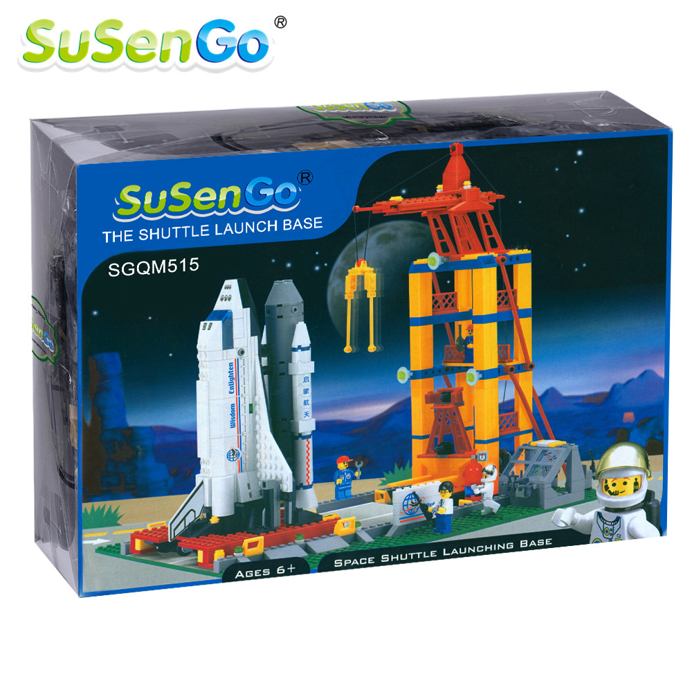 SuSenGo Space Shuttle Launching Enlighten Building Block Construction Kids Toys Educational Gift Compatible with Lepin lepin 22001 pirate ship imperial warships model building block briks toys gift 1717pcs compatible legoed 10210