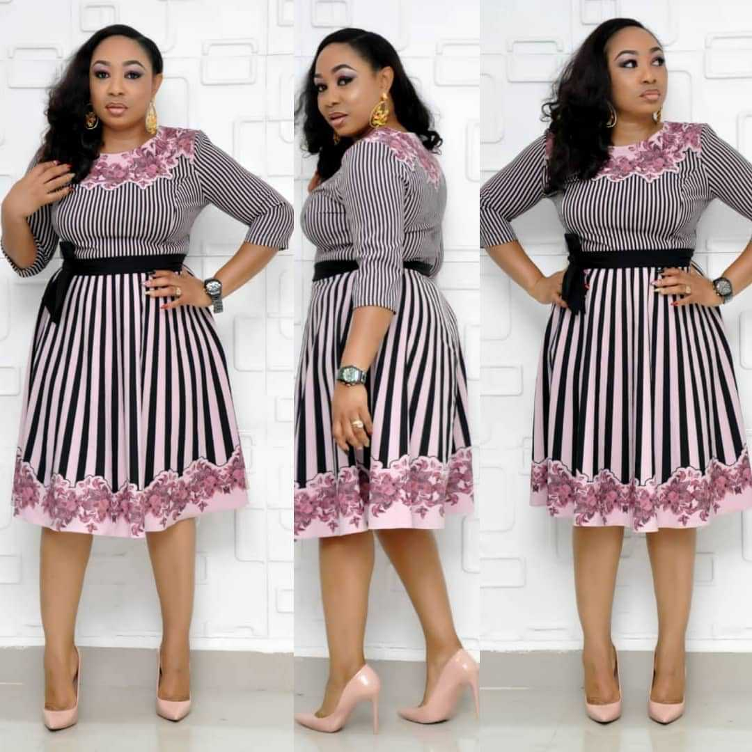 2019 New Arrival Summer Sexy Fashion Style African Women Printing Plus Size Knee-length Dress L-3XL