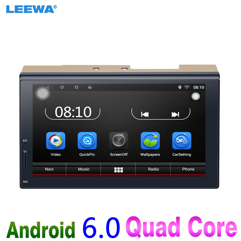 7inch Ultra Slim Android 6 0 Quad Core Car Media Player With GPS Navi Radio For