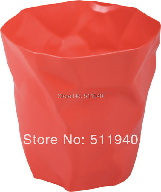 4 piece/lot   plastic pleated  trash can, waste bin.