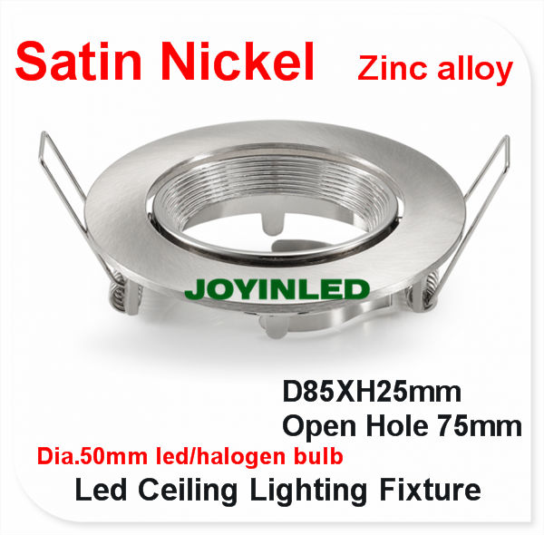 8pcs lot Round satin nickel ceiling fixtures Gu10 fitting frame LED downlight for home kitchen