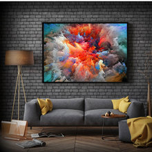 CHENFART Large Abstract Art Canvas Poster Landscape Oil painting Cloud Print Colorful Wall Picture Living Room Home Decor