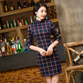 Free Shipping Vintage qipao dress Chinese traditional  Dress Blend cotton Cheong-sam Qipao Dress Cheongsam oriental dress 283
