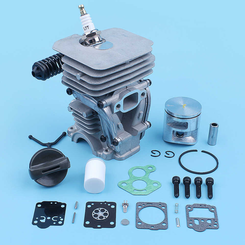 41mm Cylinder Piston Carb Repair Kit For <font><b>Husqvarna</b></font> 135 <font><b>140</b></font> 135E 140E Chainsaw 504735103 Nikasil Plated Replacement Spare Part image