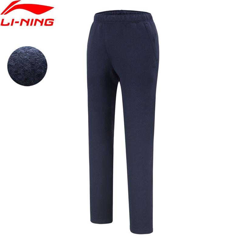 Li-Ning Men Training Sweat Pants Warm Fleece Regular Fit 62% Cotton 38% Polyester Li Ning LiNing Sports Pants AKLN821 MKY445