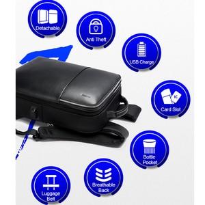 Image 4 - BOPAI Detachable 2 in 1 Backpack USB External Charge Laptop Backpack Shoulders Anti theft Backpack  Waterproof Backpack for Men
