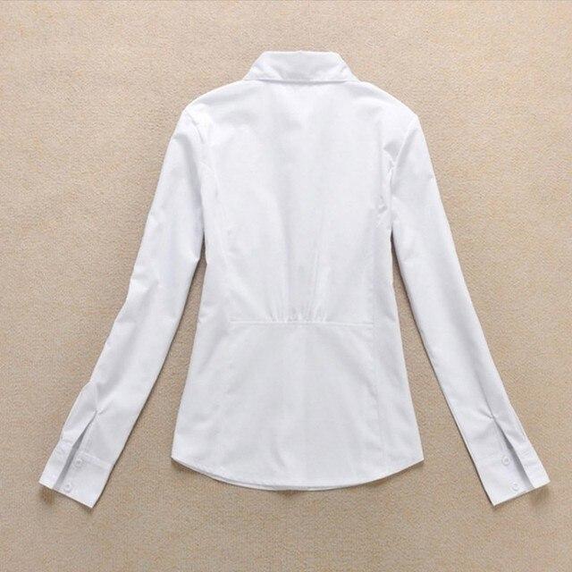 2020 Fashion Women's OL Shirt Long Sleeve Turn-down Collar Button Lady Blouse White Black Short Sleeve Tops 10
