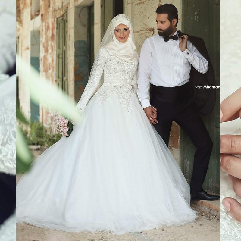 Buy fw501 2017 arabic islamic muslim for Arabic wedding dresses with hijab