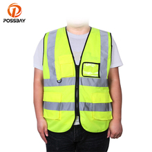 POSSBAY Motorcycle Vest Reflective High Visibility Safety Clothing Warning Waistcoat Reflective Moto Protect Jacket Vest