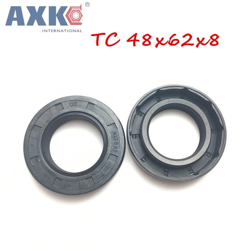 5pcs Skeleton Oil Seal 48x62x8mm //48x63.5x10//48x65x10//48x70x12//48x72x8mm TC Type NBR Black Radial Shaft Seal Ring Gasket Size : 49o5x77x18mm