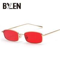 Small Rectangle Sunglasses Men Retro Brand Designer Metal Square Frame Clear Lens Sun Glasses For Women