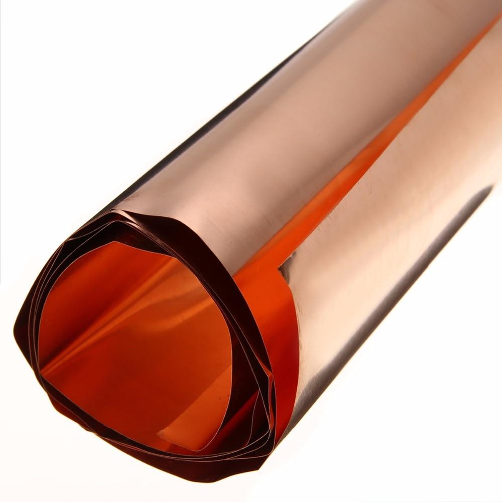 1pc 99.9% High Purity Pure Copper Sheet Mayitr Cu Metal Foil Plate 0.1x200x1000mm