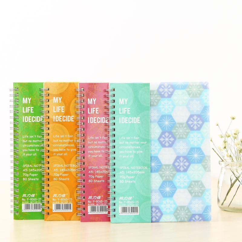 Hot Coil Spiral notebook Paper 80 sheets Notepad A5 A6 Day Planner Diary Creative Note book Office School Supplies Gift 2pcs japan kokuyo watanabe notepad spiral vertical notebook a5 60 sheets coil shorthand book wcn ctnb610