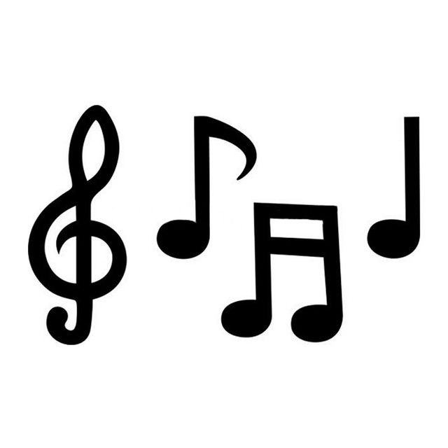 Car Covers 1610cm Interesting Music Symbols Individual Car Stickers
