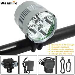 WasaFire Bicycle Front Lamp 5* XM-L T6 10000lm 3 Mode LED Bike Light 9600mAh Battery Pack Headlight Cycling Frontlight Headlamp