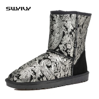 Wgg Snow Boots 5803b Medium Leg Boots Women S Shoes Winter Boots Genuine Leather Boots Black