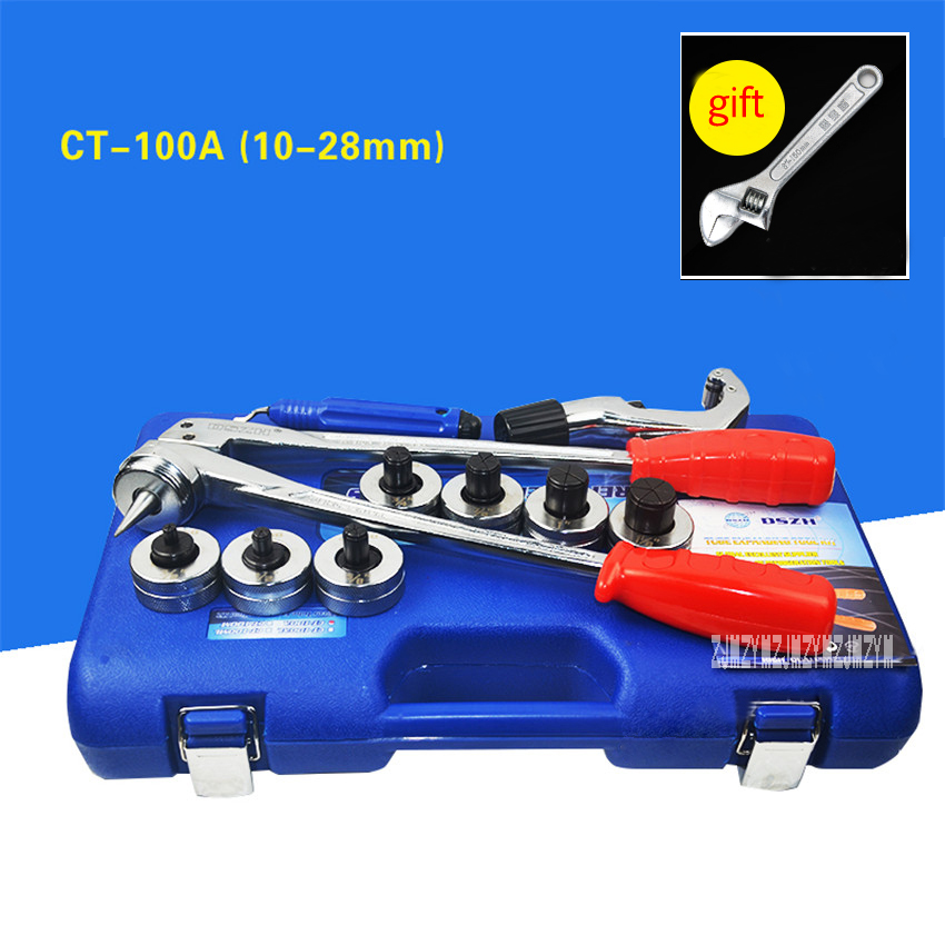New Arrival CT-100A Copper Pipe Expander Air Conditioning Refrigeration Maintenance Manual Copper Tube Expansion Device 10-28mm 6 22 mm air universal hand tool refrigeration soft copper pipe manual tube expander