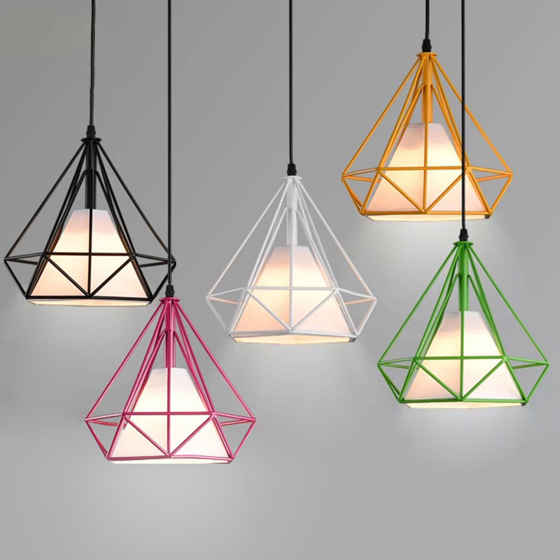 Vintage Pendant Lights Art Kitchen Bedroom Dining Room Industrial Home Lighting Fixture Pendant Lamp Iron Cage Lampshade Luminai 10pcs wholesale price d80mmxh300mm black iron long cage industrial pendant lamp vintage brass socket lighting fixtures for home