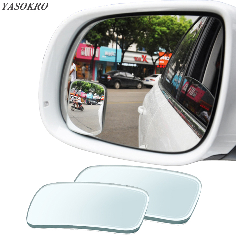 1 Pair Blind Spot Mirror 360 Rotation Adjustable Wide Angle Mirror square Convex Rear View Mirror Car mirror Universal 2 in 1 car blind spot mirror wide angle mirror 360 rotation adjustable convex rear view mirror view front wheel car mirror