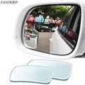 1 пара, зеркало для слепых зон, вращение на 360 градусов, регулируемое широкоугольное зеркало, квадратное выпуклое зеркало заднего вида, униве...