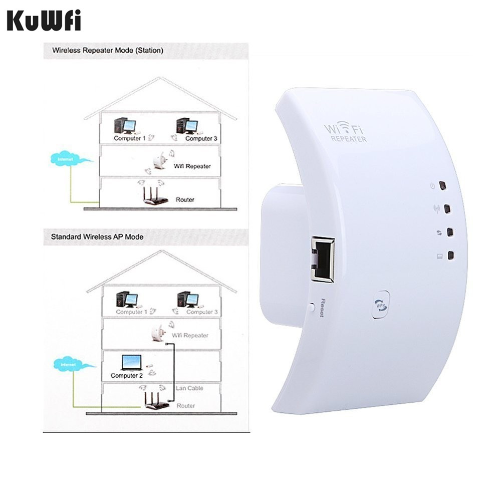 Image 2 - Wireless WIFI Repeater 300Mbps WiFi Signal Range Extender Amplifier Mini Booster Support WPS 802.11N/B/G 2dBi Antennas US/EUPlug-in Wireless Routers from Computer & Office