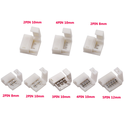 5 stks/partij LED Connector 2 pin/3 pin/4 pin soldeerloze Voor 8mm/10mm 5050 /3528/ws2811/ws2812b/5630/5730 SMD LED Strip Accessoires
