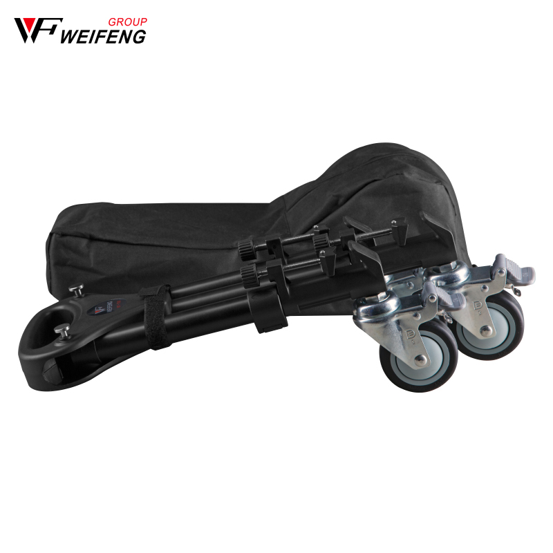 Weifeng WT 700 Three Pedestal Pulley Roller Tripod Legs Camera Photography Casters Tripod Legs wheel slide