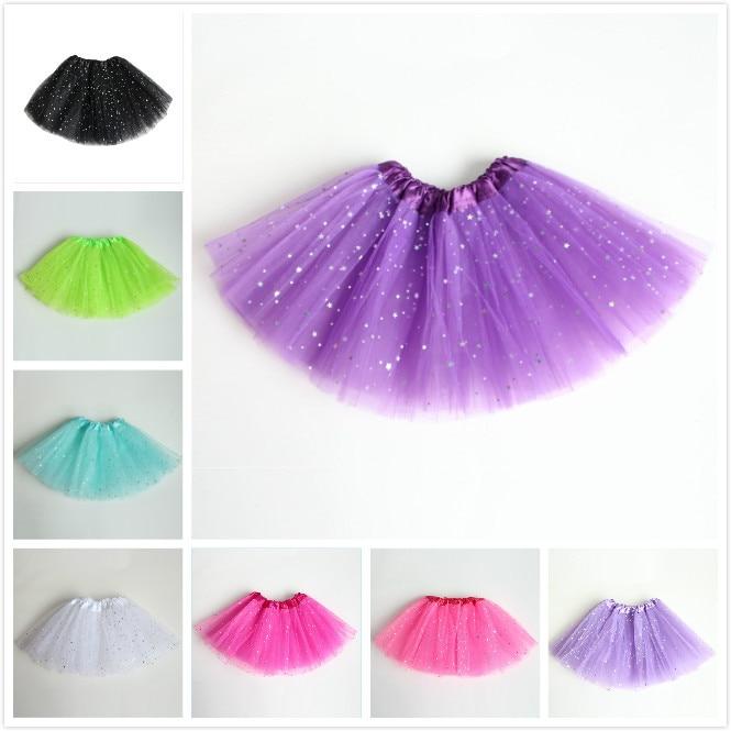 AZULARILLOJO Kids Baby Star Glitter Dance Tutu svārki meitenei 3 - Bērnu apģērbi - Foto 4