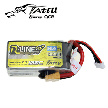 TATTU LiPo Battery 1550mAh 4S 100C 15.2V High Voltage HV XT60 Plug 250 size 3D Lithium Battery for FPV Racing Drone Quadcopter