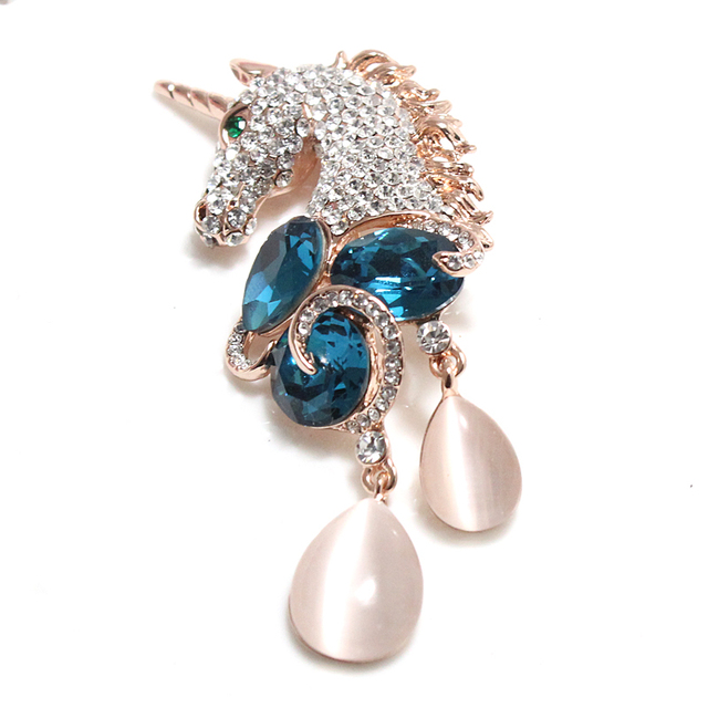 Brooches For Women Safety Pin broches Unicorn Brooch Jewelry Vintage For Wedding Party Ladies Christmas Gifts XZ003