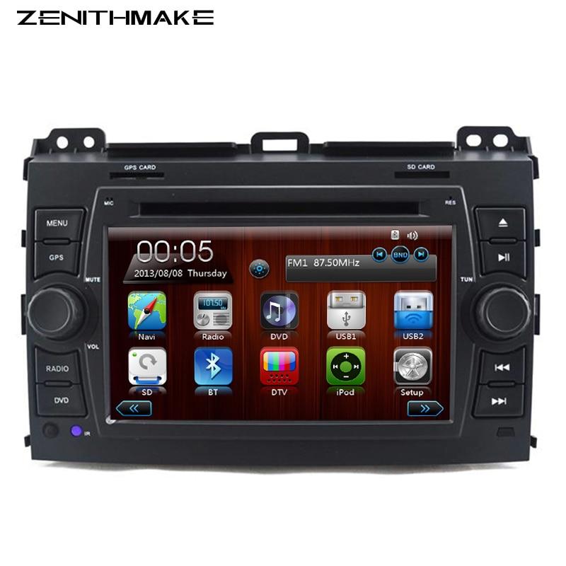Free shipping font b Car b font DVD GPS for Toyota Prado 120 Navigation RDS Radio