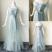 Bridesmaid Dresses Long Dress for Wedding Party Woman Floor Length Prom Sexy Junior Ladies Tulle