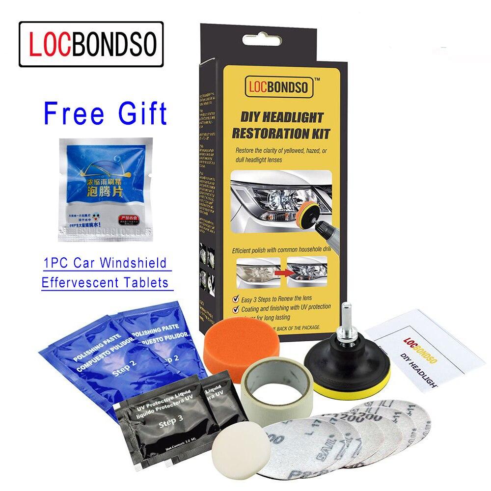 Auto Headlamp Polishing: LocBondso Headlight Restoration Kit DIY Headlamp