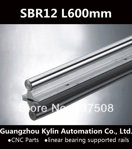 Best Price! 1 pcs SBR12 600mm linear bearing supported rails for CNC can be cut any length
