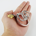 Male Chastity Belt SUPER SMALL size Stainless Steel Chastity Device Penis Restraint Cage
