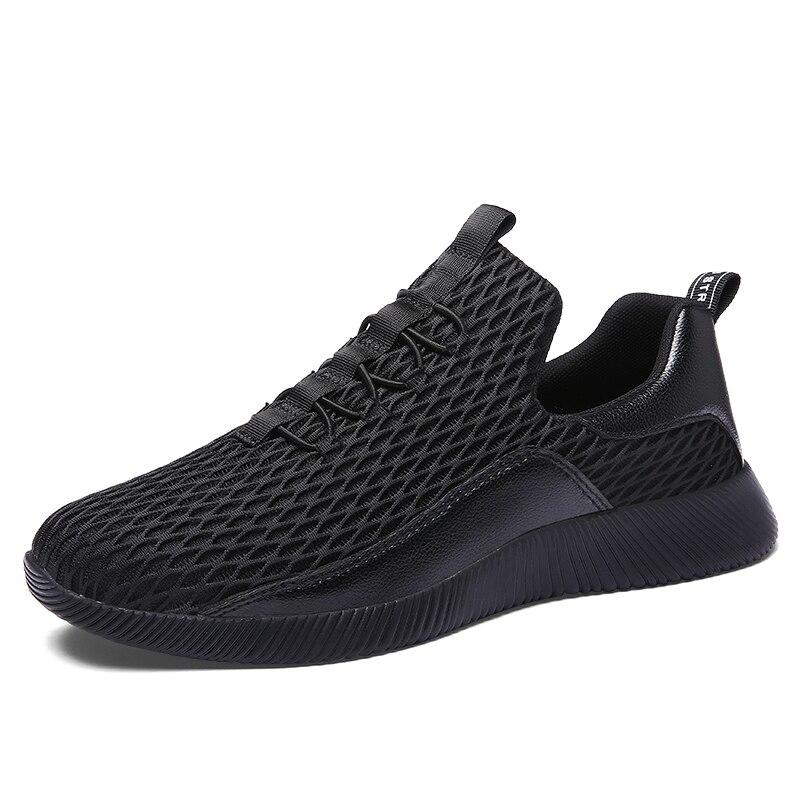 c9f476f4db Casuais De Respirável Sapatos Moda Tênis Preto branco Macio 66 Tamanho  Homens 28 Agradáveis Confortável Outono ...