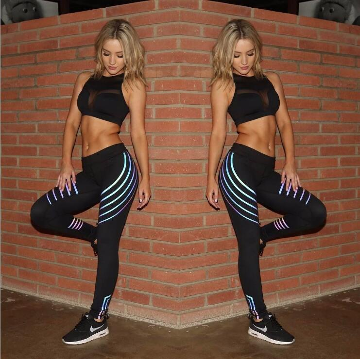 Laser Women Waist Fitness   Leggings   Stretch Pants Trousers   leggings   Women Winter Pantalones Mujer Cintura 2018