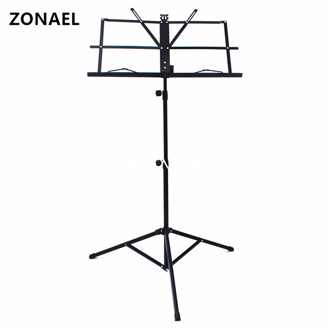 ZONAEL Hot Selling Product Lightweight Sheet Music Metal Stand Holder Folding Foldable with Waterproof Carry Bag Guitar Parts