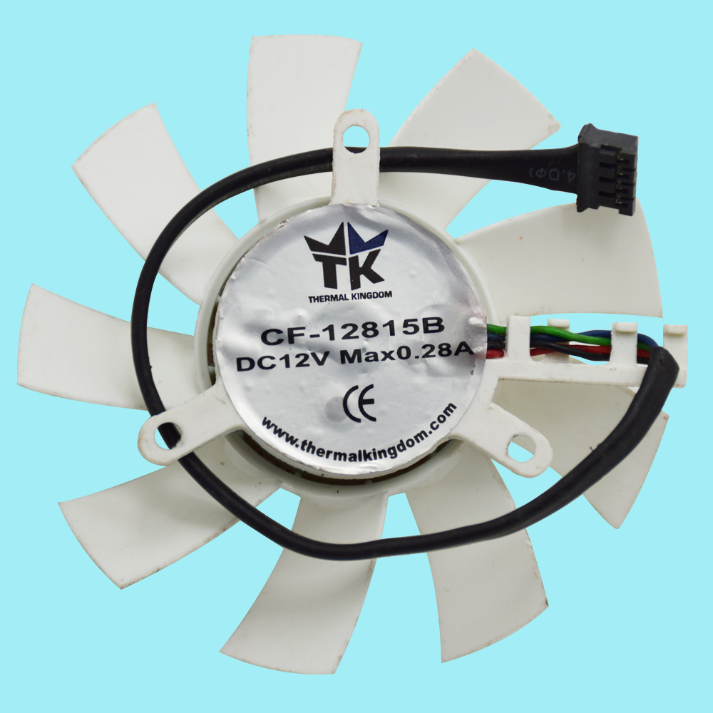 Original 74mm Thermal kingdom CF 12815B DC 12V 0 28A 4Pin 4 Wire Cooling Fan Replace