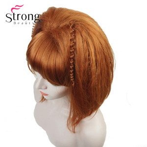Image 3 - StrongBeauty Cosplay Alla Pugacheva Hairstyle Copper Red Black Blonde Party Wig Halloween Wigs Womens Full Synthetic Hair