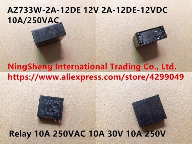 Quality assurance AZ733W-2A-12DE 12V genuine 2A-12DE-12VDC 10A/250VAC relay 10A 250VAC  10A 30V 10A 250V